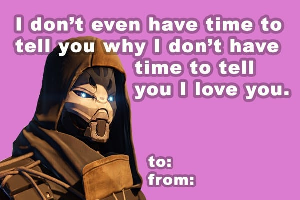Destiny, Valentine's Day, Cards, Gifts, Cryptarch, Engrams, Bungie, Activision, The Taken King