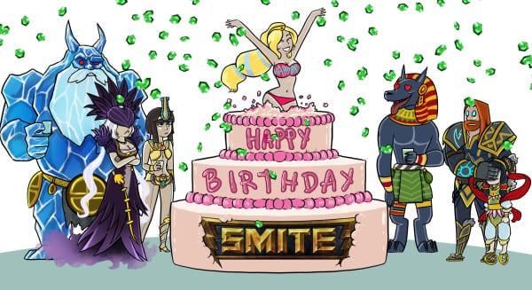 Smite Birthday celebration
