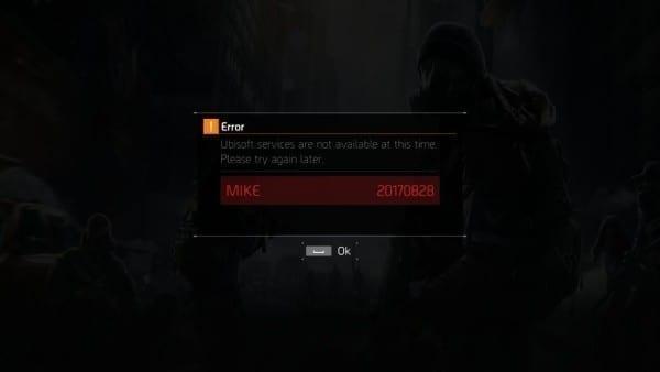 The Division Mike error fuck