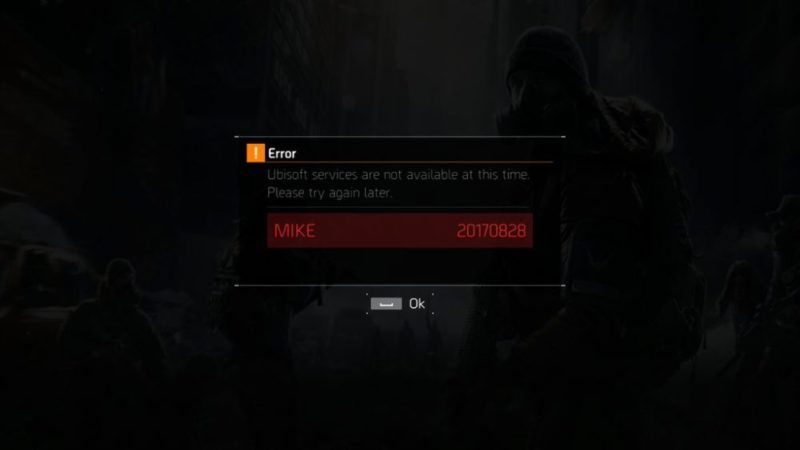 The Division Mike error fuck