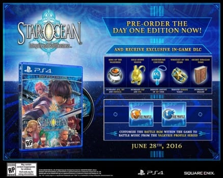 Star Ocean: Faithlessness and Integrity Day One Edition, release date