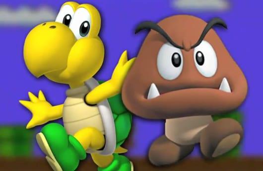 Goomba and Koopa Mario