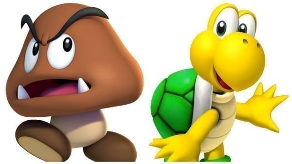 goomba, koopa troopa, video game, enemies