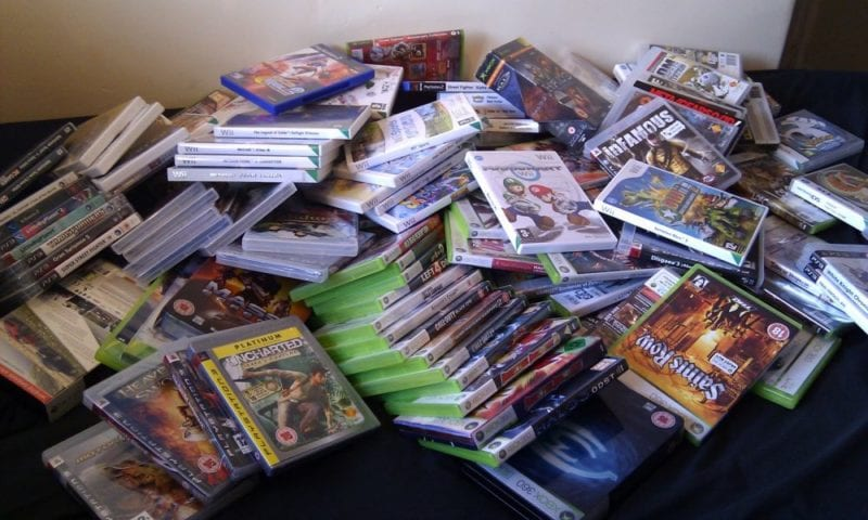 pile of games