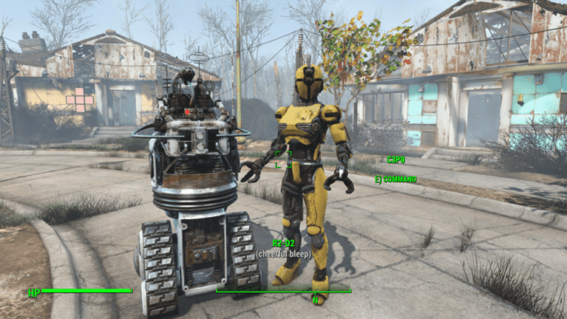 R2D2 and C3P0 Fallout Automatron