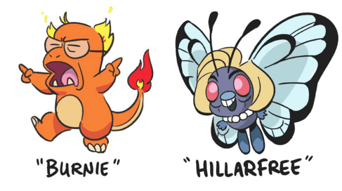 Presidential Candidates as Pokemon