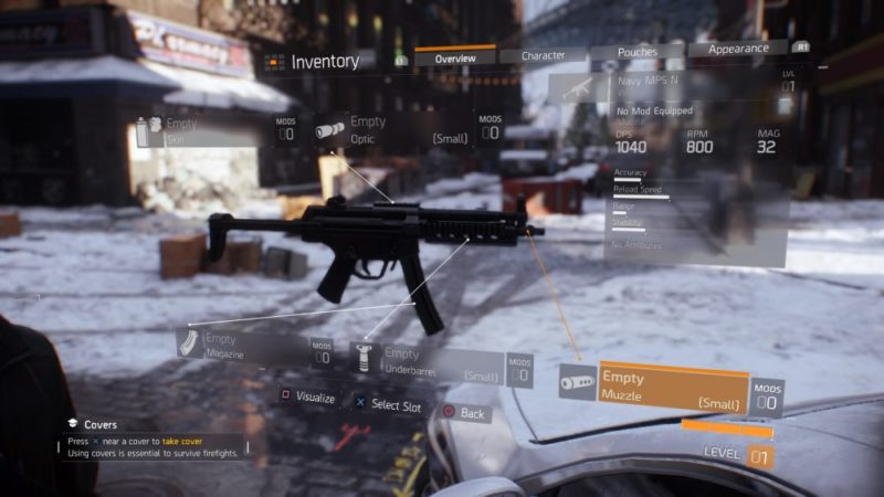 The Division, how to, mod, weapons, guide