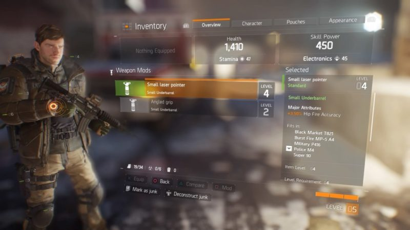 The Division, how to, deconstruct, items, weapons, mods, craft, materials