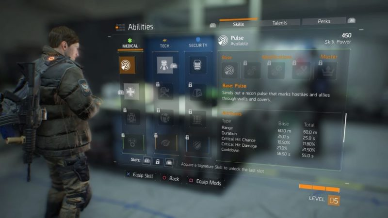 the division, skills, things to do