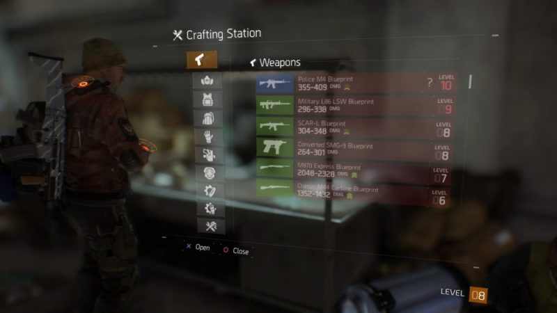 The Division High-End Weapons