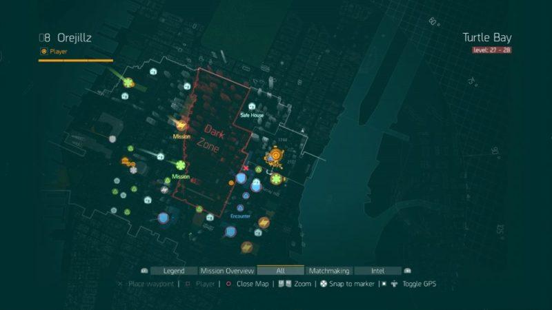 The Division, Dark Zone, location