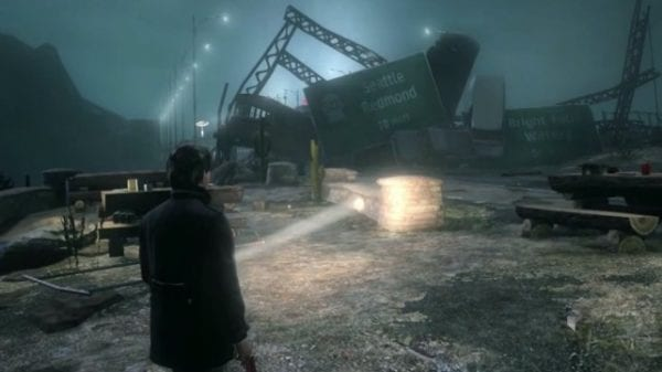 A still from the Alan Wake 2 concept demo.