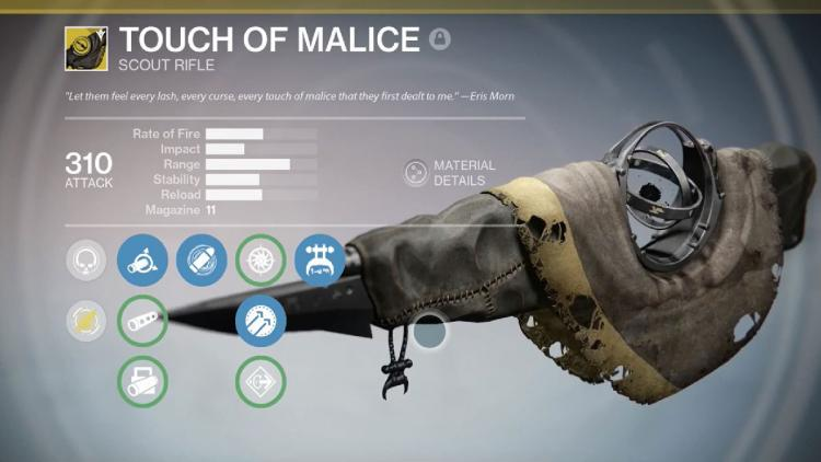 destiny touch of malice