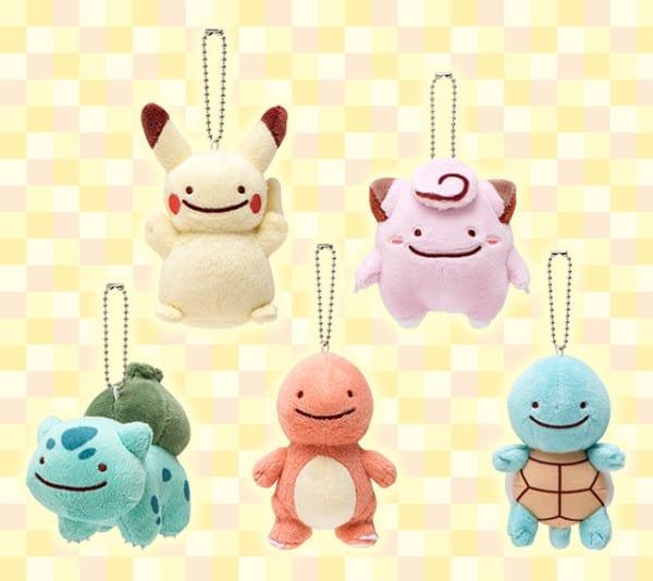Ditto Pokemon keychains