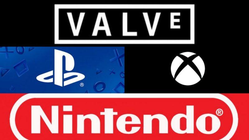 gaming companies valve sony microsoft nintendo
