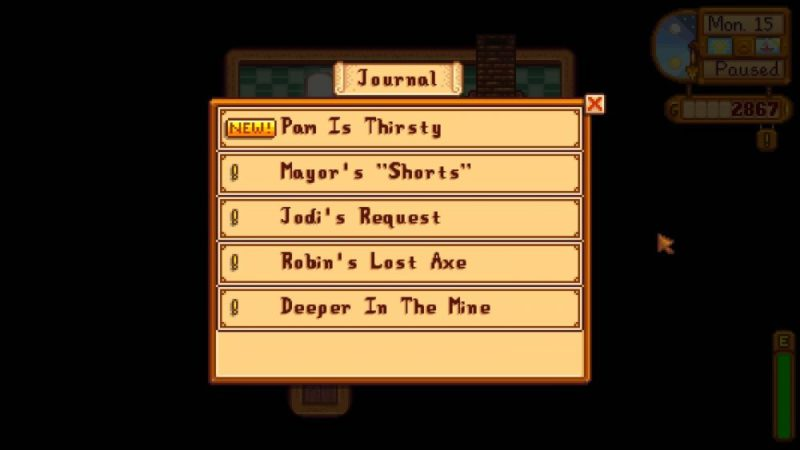 journal stardew valley