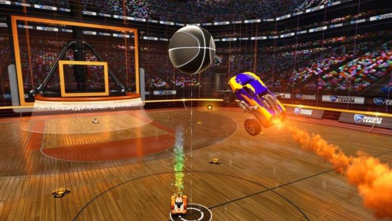 Rocket League Basketball Dunk Mode