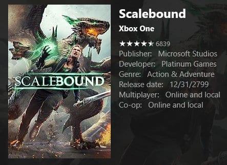 scalebound xbox store delayed