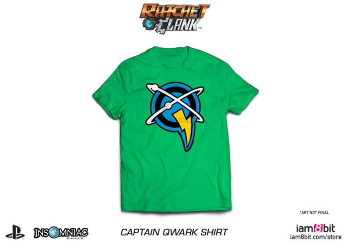 ratchet and clank, merchandise, t-shirt, captain qwark, movie, game