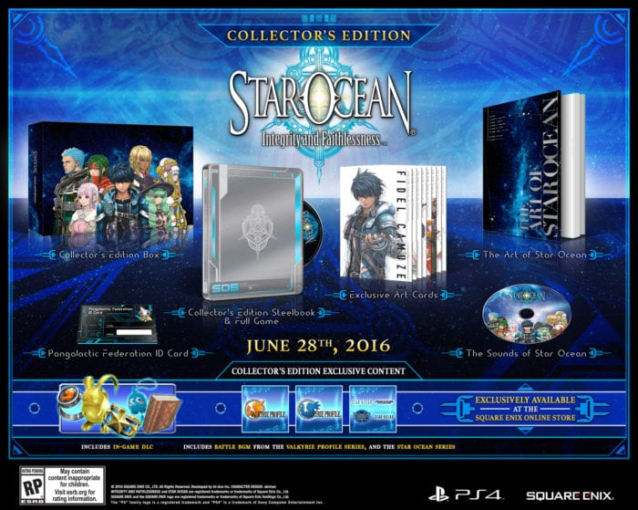 Star Ocean INTEGRITY AND FAITHLESSNESS collectors edition