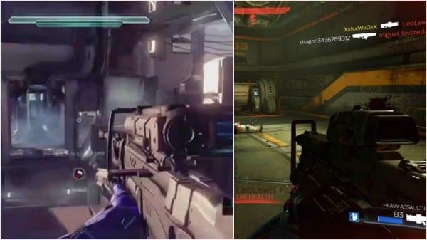 Halo 5, Doom, comparison, similar same