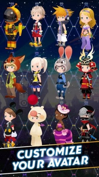 Kingdom Hearts Unchained X Avatar Outfits