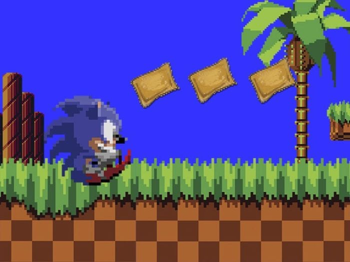 sonic the hedgehop totino's pizza rolls