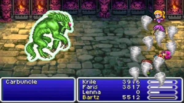 Final Fantasy v carbuncle summons boss