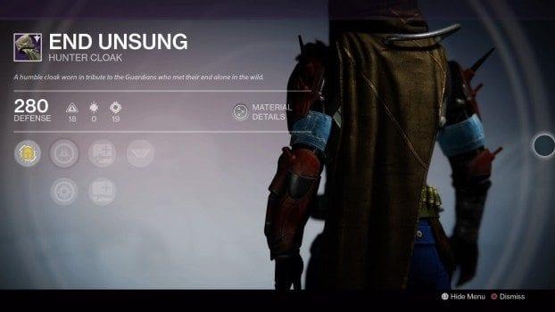 End Unsung - Hunter Cloak