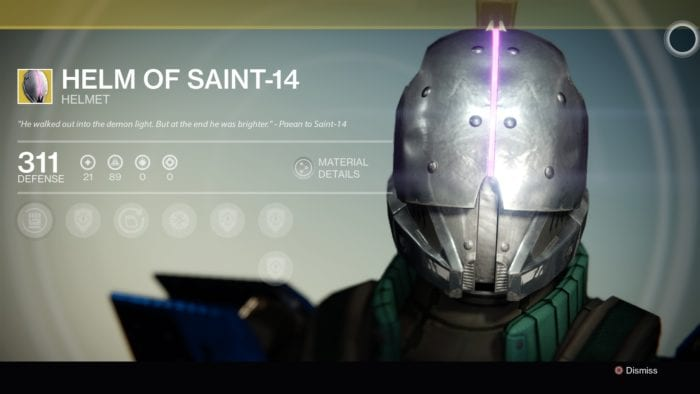 destiny helm of saint 14