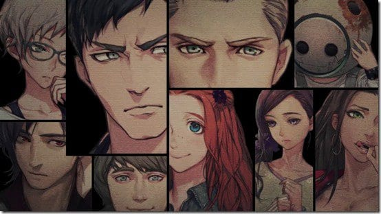 Zero Time Dilemma, Characters, participants, trailer,