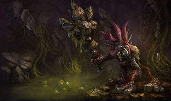 League of Legends Traditional Trundle splash art