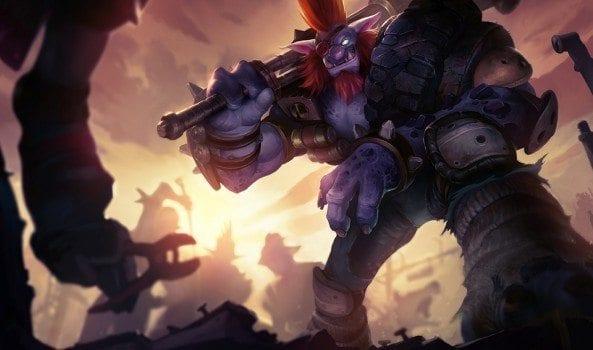 skin League of Legends New Junkyard Trundle Splash Art updated