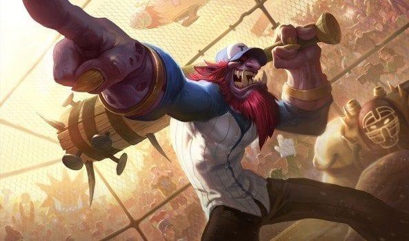 League of Legends Lil' Slugger Trundle Splash Art new skin updated