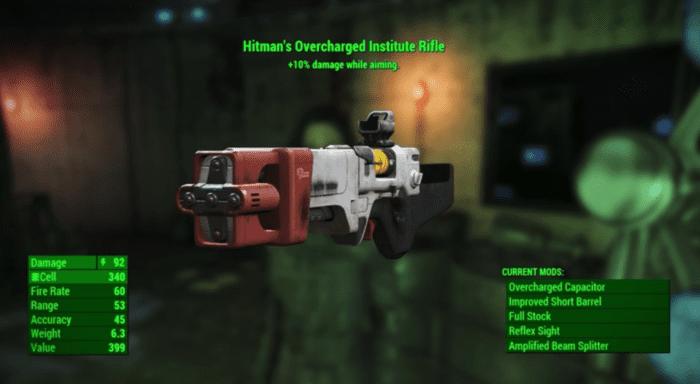 Fallout 4 Far Harbor Hitman's Institute Rifle