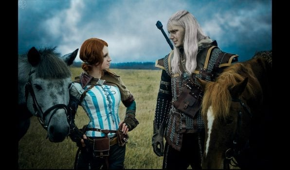 Triss Merigold and Geralt of Rivia
