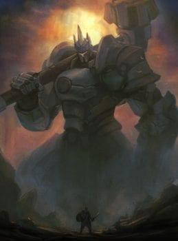 Reinhardt, Overwatch, Dark Souls