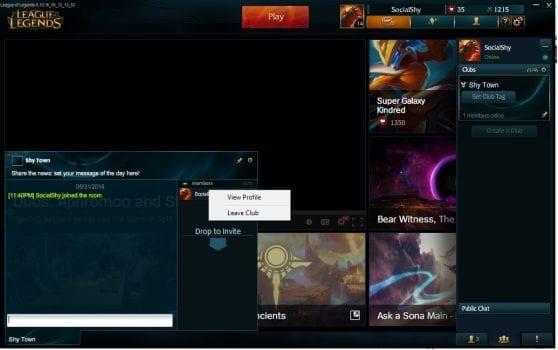 League Of Legends New Client Chat Rooms
