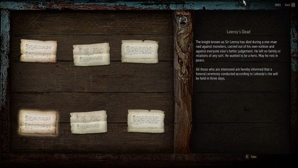 Witcher 3, Blood and Wine, demise, easter egg, leeroy jenkins