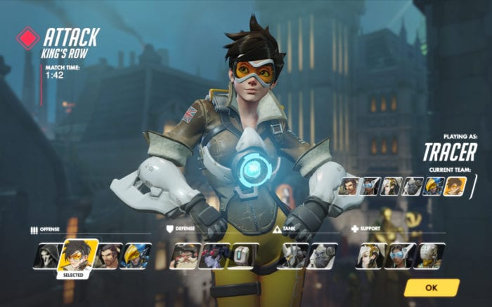 Overwatch Character Select