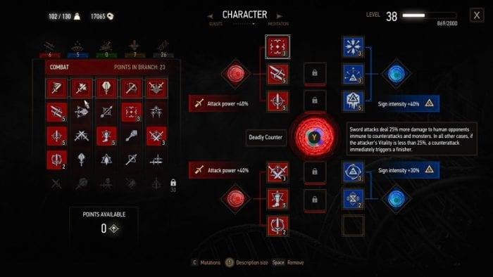 blood and wine witcher 3 mutations