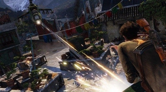 Uncharted 2 Set Piece Helicopter Battle