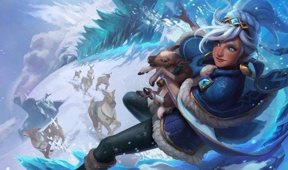 League of Legends Freljord Taliyah Splash Art
