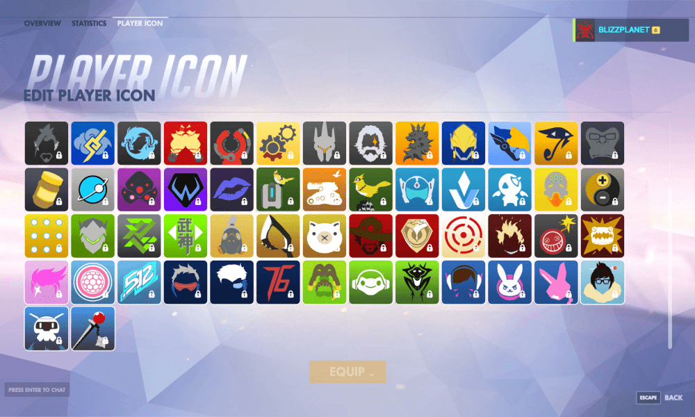 overwatch  how to change player icon avatar