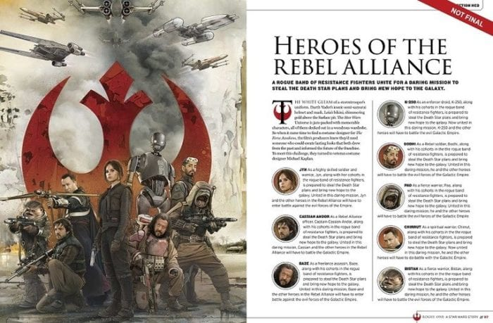 rogue one story guide bios