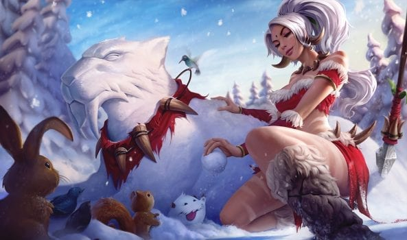 Snow Bunny Nidalee skin splash art