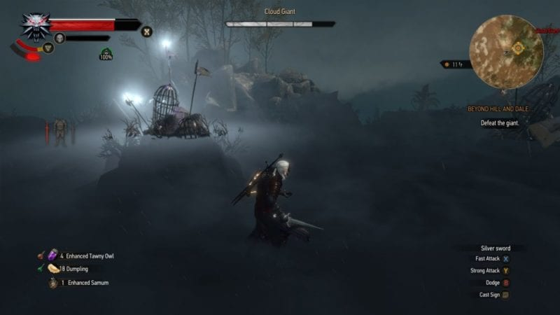 the witcher 3 blood and wine cloud giant fight
