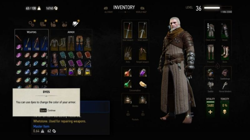 the witcher 3 blood and wine dyes