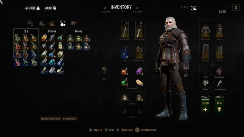 witcher 3 blood and wine level 34
