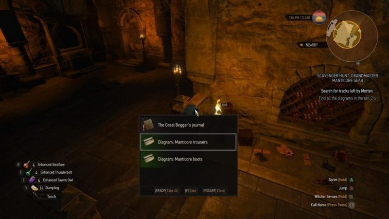 witcher 3 blood and wine manticore trousers and boots
